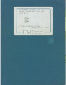 Cover of Dr. Stone's Dissertation.