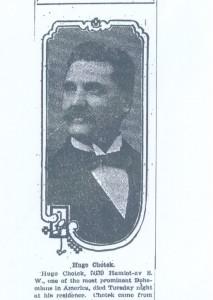 Chotek, Hugo obituary, Cleveland Plain Dealer, May 11, 1911