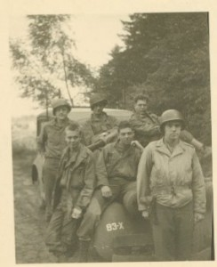My Dad with his team, who had the ghastly duty of Graves Registration following D-Day at Omaha Beach and in Normandy.