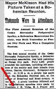 Genealogy article found in Cleveland Plain Dealer for Joseph K. Vicha.