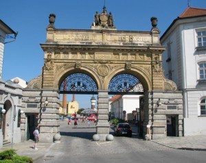 The main gates at the famous Pilsen brewery, but there is more to Pilsen than just beer.