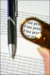 Fine print is often fine, but at times it is very telling, especially on blogs and other genealogy and family history materials.