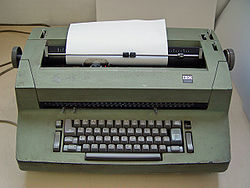 Whoa!  An IBM Selectric!  Way fancier than I had!