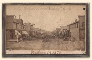 Often old photographs are one of the treasures local Societies have, such as this one from Wadena, Minnesota in 1878.