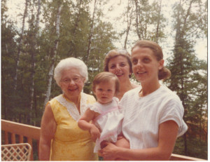 Family history and ancestry ... four generations of the strong women in my wife's family!