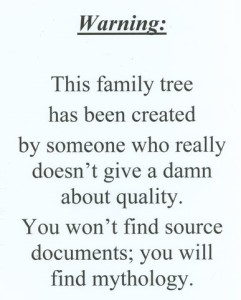 Maybe we need signs for some online family trees?