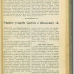 Here is the beginning of the Chotek article on Cleveland's first Czech immigrants.  Amazing stories and information!