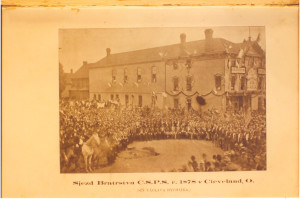 The 1878 Congress of the C.S.P.S. gathering in Cleveland, Ohio.