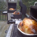 Yes, we will be grilling three turkeys!