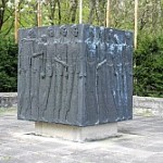 This is one of the current memorials at the location of the Langenstein Concentration Camp.