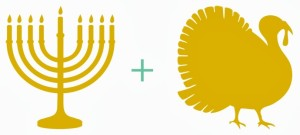 Thanksgiving and Hanukkah together for the only time in our lifetime.