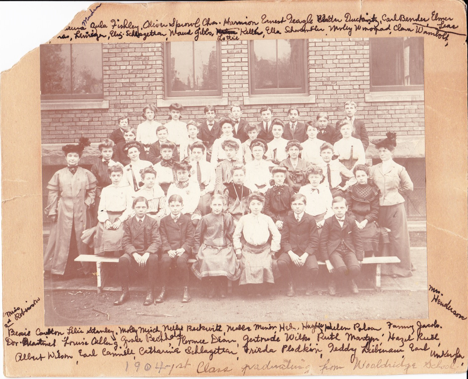 Another of the Treasures.  This is the first graduating class from Wooldridge School in Cleveland, Ohio.