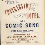 "Cover of ""The Contraband's Hotel"" sheet music, by J. Rud Adam."