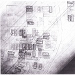 One of the historic hand drawn plat maps from Mt. Olivet Cemetery.  You can see the Adam lot at 127.