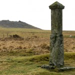 Memorial stone to Charlotte Dymond on Bodmin Moor.