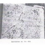 Gravestone inscription on Augustin Herman's grave.  Date unknown.
