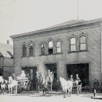 Old Perun Hall as Station 18 of the Cleveland Fire Department. Courtesy of Western Reserve Fire Museum of Cleveland.