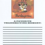 This was our first Thanksgiving genealogy game form.  Simple for sure!