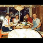 My Uncle Chuck in the red shirt.