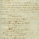 An image of Robert Burns original penning of Auld Lang Syne.