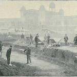 Construction in 1894 of the Exposition grounds.