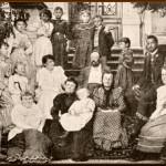 Antonin with family in Vysoka in 1894.