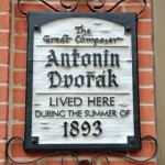 Spillville plaque noting Dvorak's stay.
