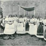 Moravian folk festival queens.