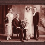 My Uncle Jim and Aunt Em's wedding photo.