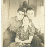 Photo of my dad, grandmother and Gramps.  The photo on the wall is when my dad got his Eagle Scout.  He always wore bow ties too.