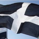 The Cornish St. Piran's Flag