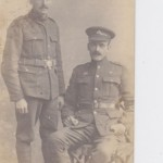 My great uncle, William Morrish, (seated) who was killed in WWI and is buried in Houyet, Belgium.