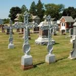 Unique Bohemian Andera Crosses in Iowa cemetery.