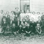 Rock Cave, West Virginia school in 1910-1911 courtesy Bucknell University.