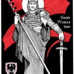 St Wenceslaus with Czech crest