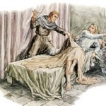 Painting of the murder of King Wenceslaus III