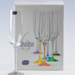 Bohemian Crystal champagne glasses image