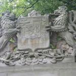 Upper portion of dedication monument.