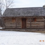 Early cabin in Caledonia, Wisconsin.