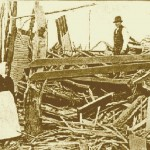 Aftermath of the New Richmond, Wisconsin tornado.