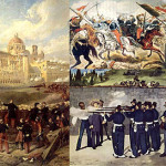 Scenes from the French and Mexican War.