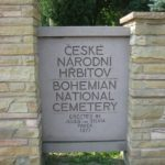 Today's entrance sign to Bohemian National Cemetery, Wisconsin.