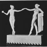 Korbel sculpture two women
