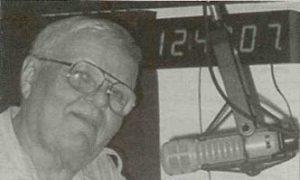 Joe Kocab behind his beloved microphone!