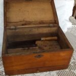 Antique sugar chest cutting box.