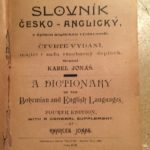 The cover page of my 1890 copy of Jonas's Czech-English dictionary@