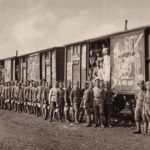 Czech Legion fighters on the trains.
